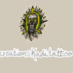 tête de mort couleur tatouage