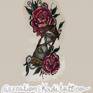 neo trad roses sablier