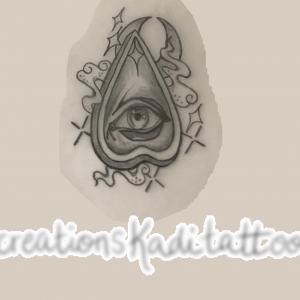 ouija tattoo design star