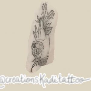 tattoo flash rose main