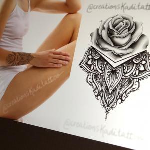 rose mandalas ipad tattoo drawing