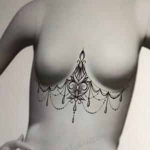 tattoo flash underboobs