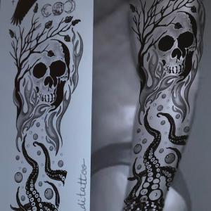 element raven skull octopus fire