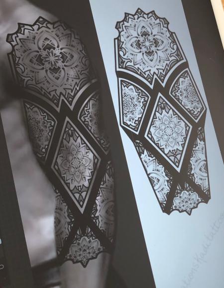 sleeve mandalas géométrique