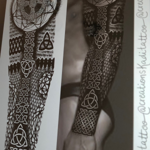 celtic sleeve triqueta black rune