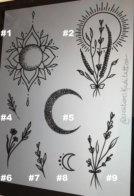 handpoke small tattoo moon