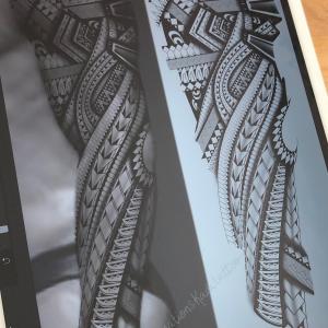 polynesien maori tattoo shading