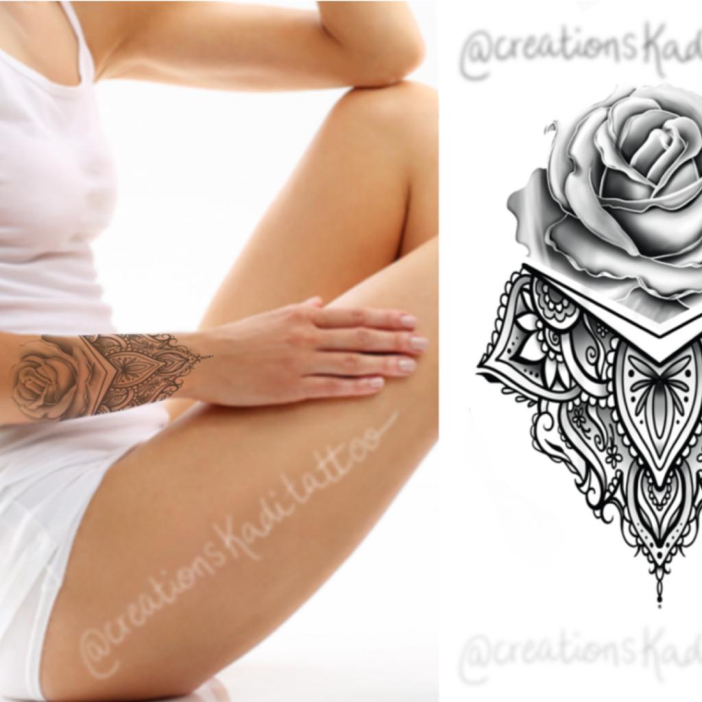 flash tattoo rose ipad mandalas